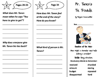 Mr. Tanen's Tie Trouble Trifold - Journeys 2nd Grade Unit