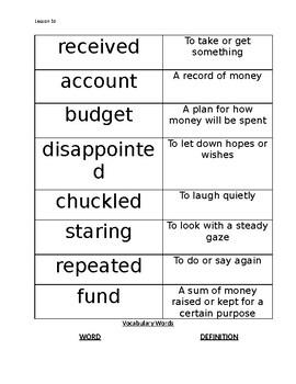 Mr. Tanen's Tie Trouble Vocabulary