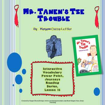 Mr. Tanen's Tie Trouble Vocabulary Power Point (Journeys Series)