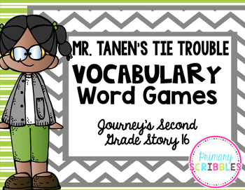 Mr. Tanen's Tie Trouble Vocabulary Word Games {Goes with Journey's Second Grade}