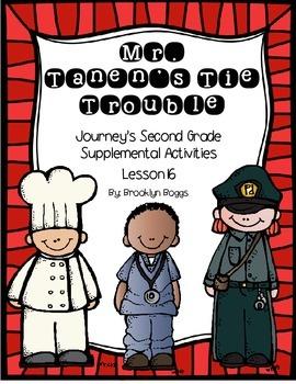 Mr. Tanen's Tie Trouble Journey's Activities - Second Grade Lesson 16