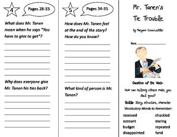 Mr. Tanen's Tie Trouble Trifold - Journeys 2nd Grade Unit 4 Week 1 (2014, 2017)