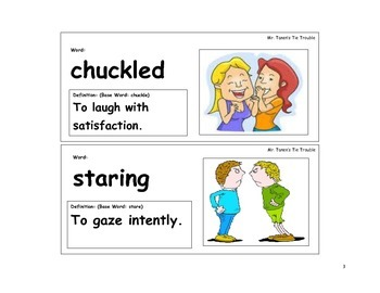 Mr. Tanen's Tie Trouble Vocabulary Cards