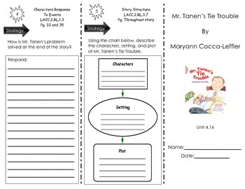 Mr. Tanen's Tie Trouble by Maryann Cocca-Leffler- Journeys Common Core