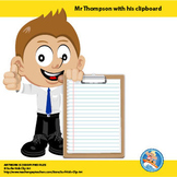 Freebie : Mr Thompson with Clipboard