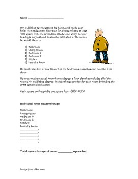 Mr. Tiddlebug house design-- a Fast Finishers measurement project