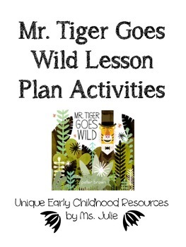 Mr. Tiger Goes Wild By Peter Brown Suffix Activity