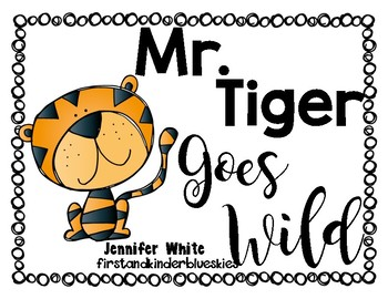 Mr Tiger Goes Wild Cut and Fold Organizers