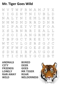 Mr Tiger Goes Wild Word Search
