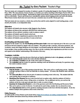 Mr. Tucket by Gary Paulsen:  A Book Study