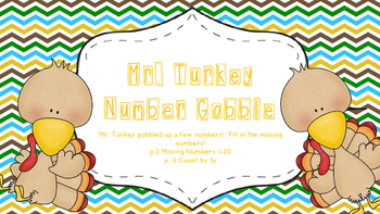Mr Turkey Gobble Missing Numbers