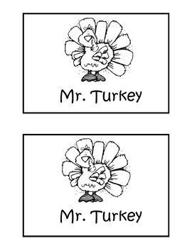 Mr. Turkey Guided Reading Booklet