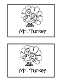 Mr. Turkey Guided Reading Booklet Level 1