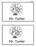 Mr. Turkey Guided Writing Booklet
