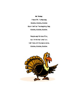 Mr. Turkey Poem
