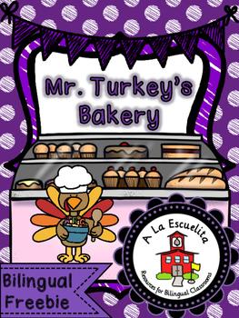Mr. Turkey's Bakery Bilingual Freebie