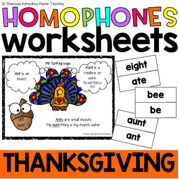 "Mr Turkey says ""Let's learn homophones"""