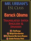 Mr. Urban's ESL Class: Barack Obama - Passage & Question S