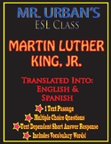 Mr. Urban's ESL Class: Martin Luther King, Jr - Passage & Question Set - ESL