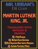 Mr. Urban's ESL Class: Martin Luther King, Jr - Passage &