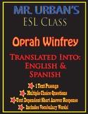 Mr. Urban's ESL Class: Oprah Winfrey - Passage & Question