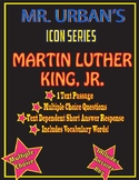 Mr. Urban's ICON SERIES: Martin Luther King, Jr - Passage & Question Set