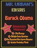 Mr. Urban's Icon Series: Barack Obama - SPANISH VERSION
