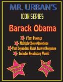 Mr. Urban's Icon Series:  Barack Obama - Text Passage & Qu