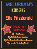 Mr. Urban's Icon Series: Ella Fitzgerald - Passage & Question Set - SPANISH