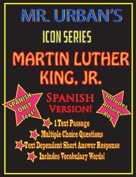 Mr. Urban's Icon Series: Martin Luther King, Jr - Spanish Version