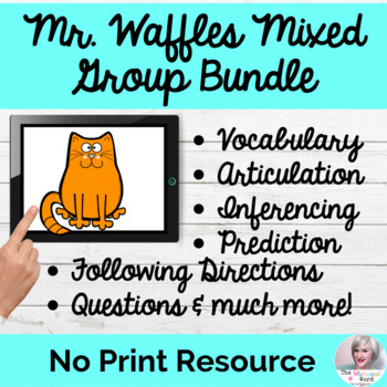 Mr. Waffles 4-Set Language Bundle NO PRINT Language Digital Teletherapy