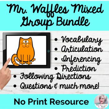 Mr. Waffles 4-Set Language Bundle NO PRINT Language Digital Teletherapy