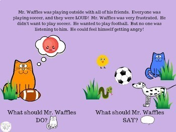 Mr. Waffles Gets Social A Lesson in Pragmatic Language NO PRINT Teletherapy