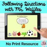 Following Directions Multistep Activity No Print Speech |