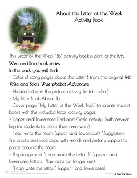 """Mr. Wee and Boo Series: Letter of the Week """"Bb"""""""