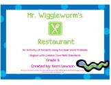 Mr. Wiggleworm's Restaurant: An Activity of Percents
