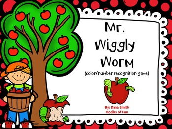 Mr Wiggly Worm Color Number Recognition Game By Oodles Of Fun