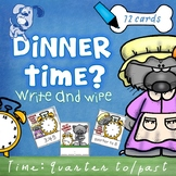 Mr Wolf's Dinner Time - Quarter past and Quarter to Write & Wipe