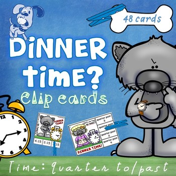 Mr Wolf's Time - Quarter past and to Clip Cards