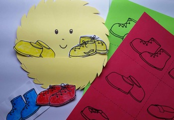 Mr Yellow's Shoes Story in English & Spanish