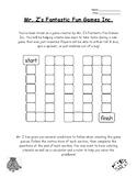 Mr. Z's Fantastic Fun Game Probability Activity