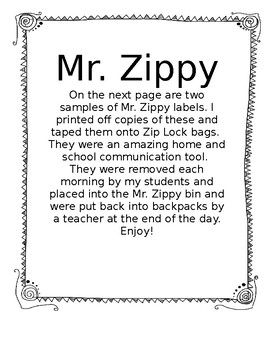 Mr. Zippy