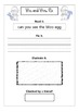 Mr. and Mrs. Fix- Fix the Sentences- Packet 2- Kinder and