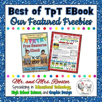 Mr. and Mrs. Rooster's Freebies Page from the TpT Social Marketplace EBook