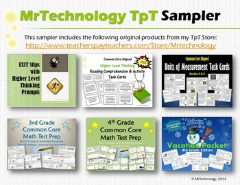 MrTechnology TpT Sampler {Common Core Aligned}