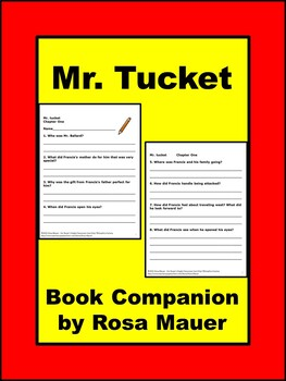 MrTucket Literacy Comprehension questions