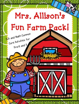 Mrs. Allison's Fun Farm Theme Pack!