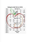 ~Mrs A's~ Kindergarten Sight Word Unit