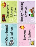 ~Mrs A's~ Literacy Work Station Card Labels