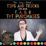 Mrs. Avery's Island F.A.Q. and Troubleshooting Tips for Your TpT Purchases